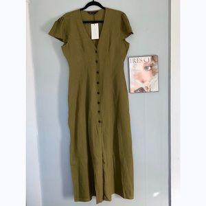 NWT Zara Linen Maxi Dress
